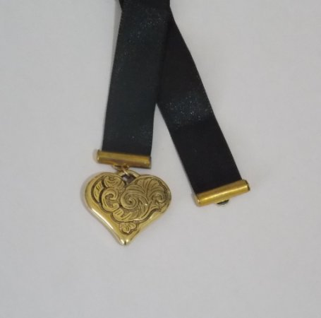 Marcador Coração Dourado
