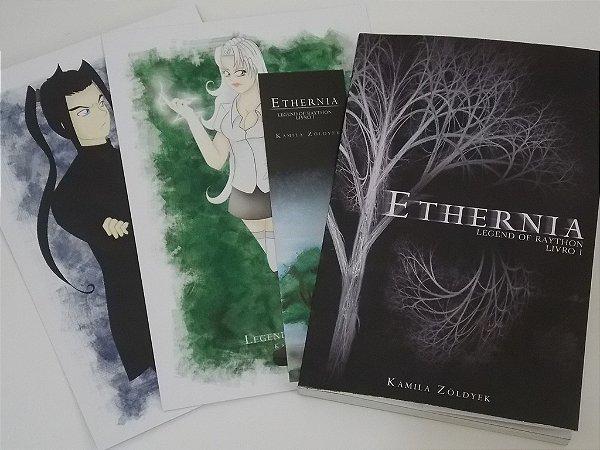 Kit livro Ethernia + Prints