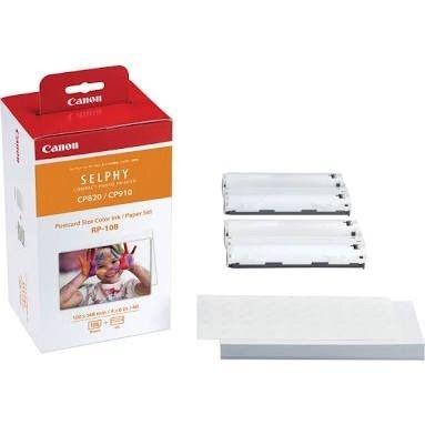 Kit de impressão Canon Rp-108in para Impressora Fotográfica Selphy CP 820 910 1000