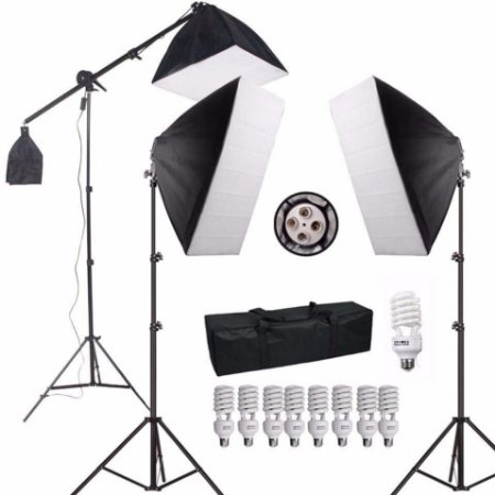 Kit Pro Estúdio De Iluminação Softboxs 50x70 - Pk-sb03