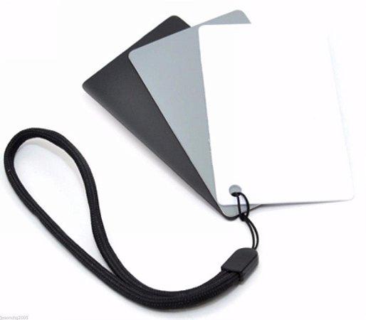 Cartão Cinza 3 Em 1 para Balanço De Branco Jjc Gc-2 Cinza 18%