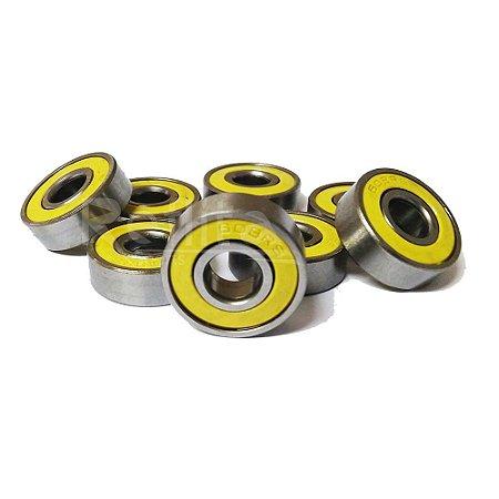 Rolamento 608rs Yellow - Jogo com 8 unidades