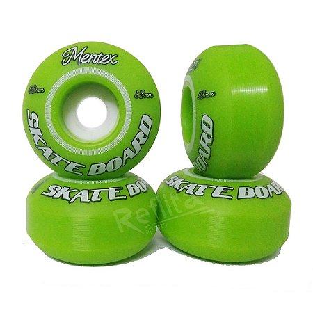 Roda Mentex 53mm 99A - Verde