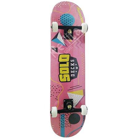 Skate Iniciante Solo Serie Colagem Pink