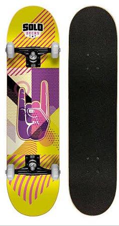 Skate Iniciante Solo Decks Yellow Pro