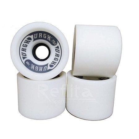 Roda Longboard Urgh 75mm - 78A - White
