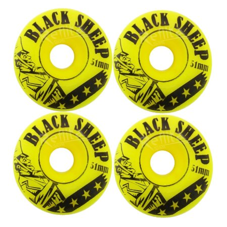 Roda Black Sheep 51mm - 99A - Amarela
