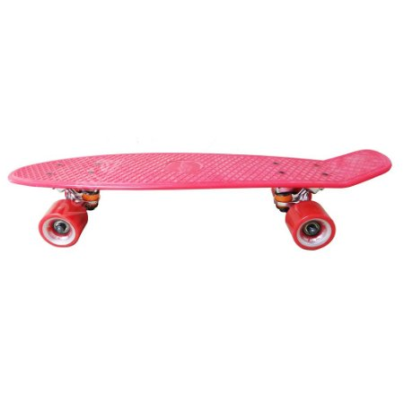 Skate Mini Cruiser - Créme - Vermelho