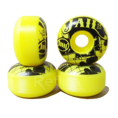 Roda de Skate Jail 51mm 99A - Amarelo