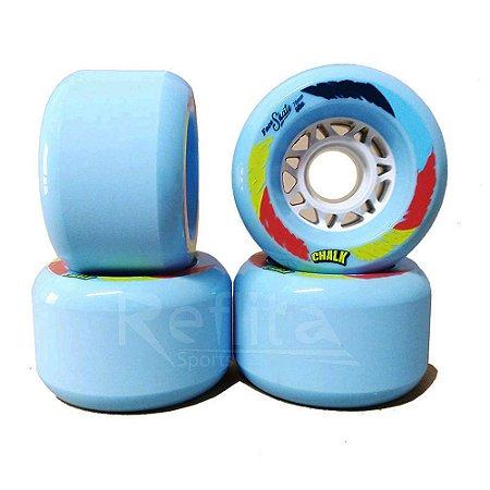 Roda Longboard Freeride Face Skate Chalk 70mm 83A - Azul