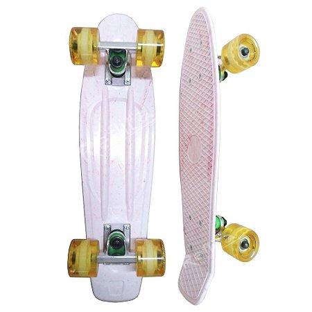 Skate Mini Cruiser - Hondar - Branco / Amarelo