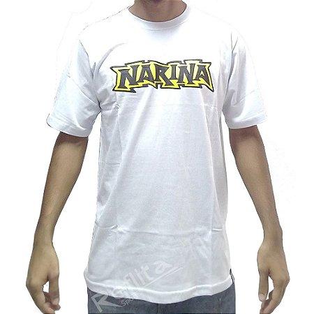 Camiseta Narina Manga Curta White - Logo