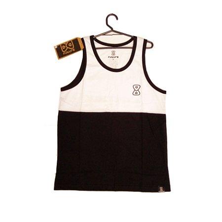 Camiseta Regata Future Black/White - Logo