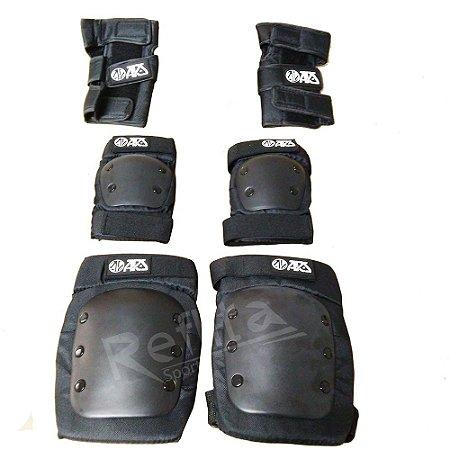 Kit de Proteção ARS - Skate / Patins