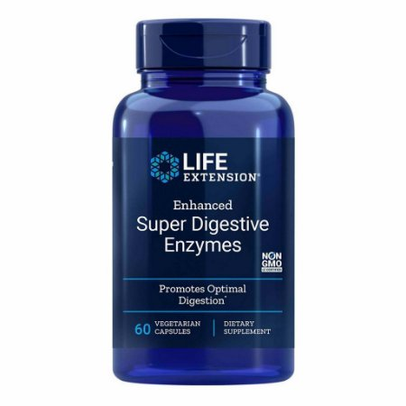 Enhanced Super Enzimas digestivas - 60 Cápsulas Vegetarianas - Life Extension (PRONTA ENTREGA NO BRASIL)