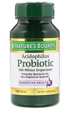 Probiótico Acidophilus  - Nature´s Bounty - 120 Tablets