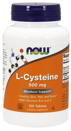 L-Cysteine 500 mg - 100 Tabletes - Now Foods