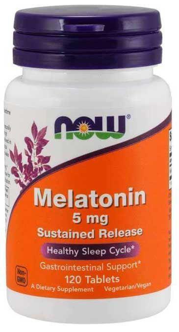 Comprar Melatonina 5 mg - Now Foods - liberação gradual - 120 comprimidos (Envio Internacional)