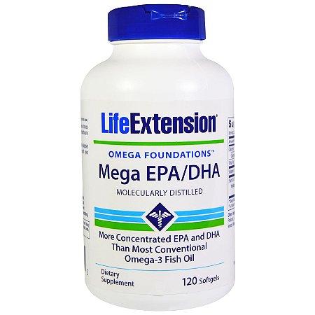 Mega 720 EPA / 480 DHA Super Ômega 3  - Life Extension - 120 softgels