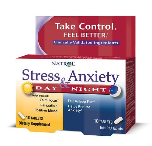 Anti Stress e Ansiedade Fórmula dia e noite - Natrol - 20 tablets (Envio Internacional)