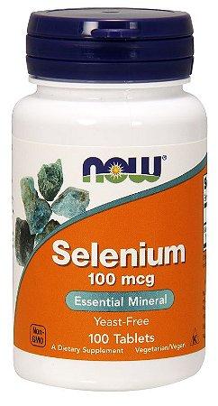 Selênio 100 mcg - Now Foods - 100 Tlablets