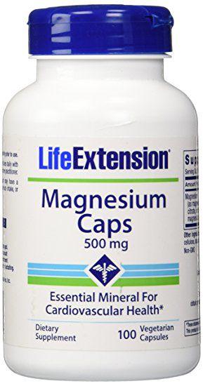 Magnésio 500 mg - Life Extension - 100 Cápsulas (Envio Internacional)