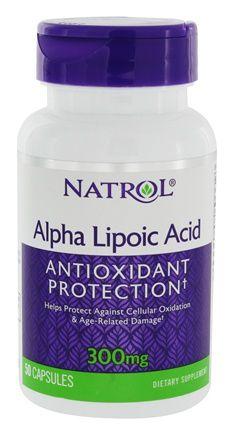 Ácido Alfa Lipóico (Alpha Lipoic Acid)  300 mg - Natrol - 50 cápsulas