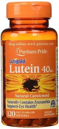 Luteína 40 mg com Zeaxanthin - Puritan´s Pride - 120 Softgels