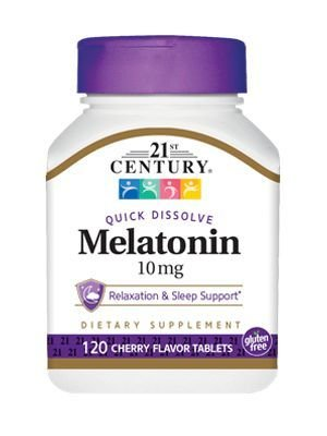 Melatonina 10 mg sublingual sabor cereja - 21 ST Century - 120 tablets
