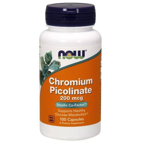 Picolinado de Cromo 200 mcg - Now Foods - 100 cápsulas