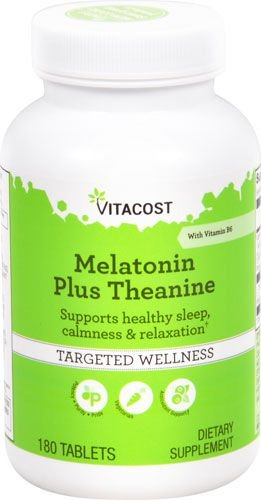 Melatonina Plus 3 mg com Anti-Stress - Vitacost - 180 comprimidos