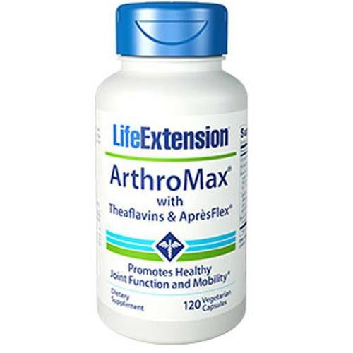 Arthromax® Advanced com W/THEAFLAVINS AND APRESFLEX - Life Extension - 120 Cápsulas