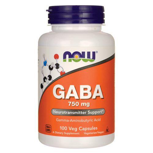 Gaba 750 mg - Now Foods - 100 cápsulas
