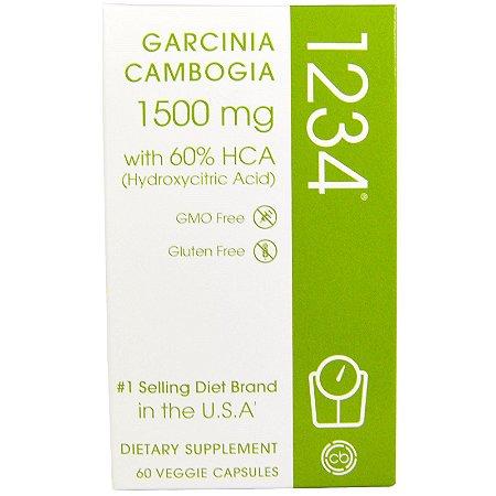 Garcinia Cambogia 1234 1500 mg - Creative Bioscience - 60 Cápsulas Vegetais
