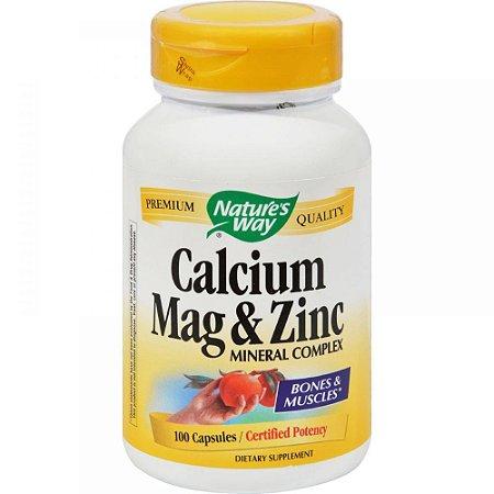 Cálcio - Magnézio - Zinco  - Nature´s Way - 100 Cápsulas (Envio Internacional)