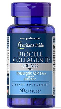 Biocell Collagen II - Colágeno Tipo 2 500 mg + Ácido hyalurônico 50 mg - 60 Cápsulas