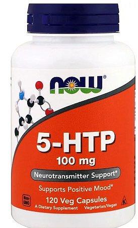 5-HTP 100 mg - Now Foods - 120 cápsulas de Liberação Rápida