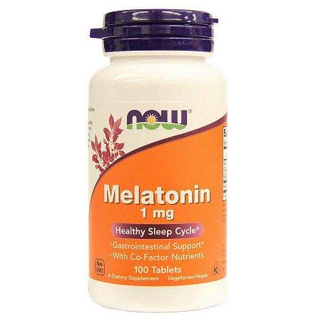 Melatonina 1 mg  -  Now Foods - 100 comprimidos