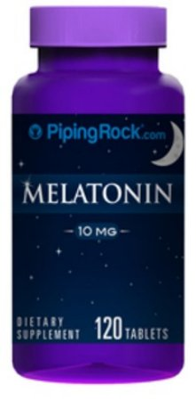 Melatonina 10 mg Piping Rock com L-Theanina - 120 tablets