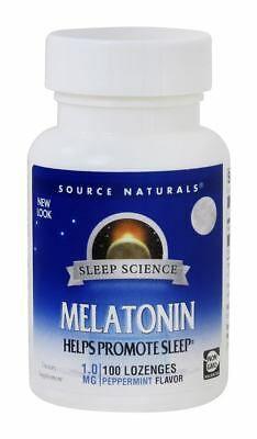 Melatonina 1 mg sublingual sabor Hortelã - Source Naturals - 100 comprimidos (hormônio do sono)