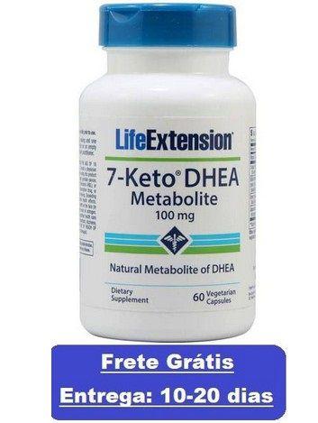 7-Keto DHEA 100 mg - LifeExtension - 60 cápsulas - Frete Grátis (Envio Internacional)