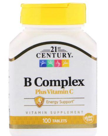 Complexo B com Vitamina C -  21 st century - 100 tablets