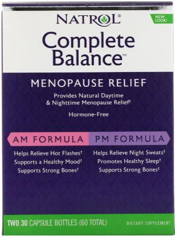 Complete Banance (Alívio Menopausa) - Fórmula dia e noite - 60 cápsulas - (Envio Internacional)