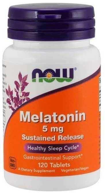 Kit 2 x Melatonina 5 mg - Now Foods - liberação gradual - Total 240 comprimidos (Envio Internacional)