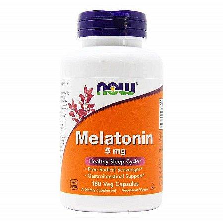 Melatonina 5mg - Now Foods - Total 180 Cápsulas
