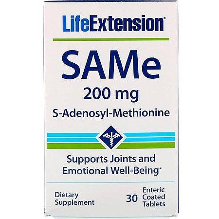 Same Adenosyl Methionine 200 mg - Life Extension - 30 Tablets  - Frete Grátis