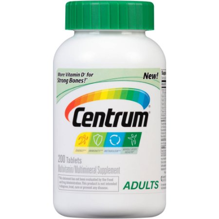 Multivitamínico Centrum Adultos  - 200 tablets - Frete Grátis