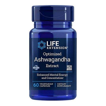 Extrato de Ashwagandha otimizado 125 mg - 60 cápsulas vegetais Life Extension (PRONTA ENTREGA NO BRASIL)