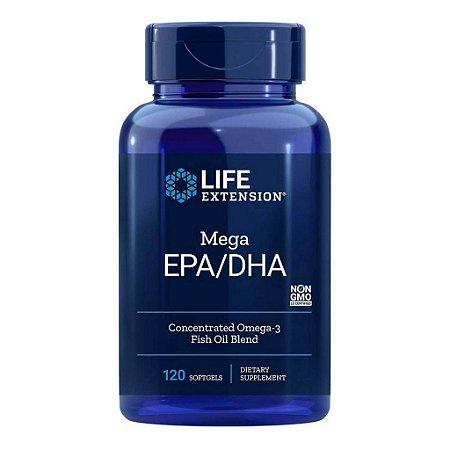 Mega EPA DHA Omega 3 from Fish Oil Concentrate - 120 Softgels -Life Extension  (PRONTA ENTREGA NO BRASIL)
