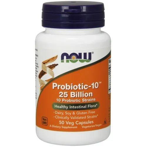 Probiotic-10 25 Bilhões - Now Foods - 50 Vegcápsulas (pronta entrega)